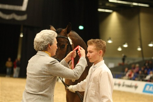 At the National Stallion Show in Herning 2009, Christian Springborg was honoured by HRH Princess Benedikte for his gold medal at the Young Breeders' world championship, the previous year.